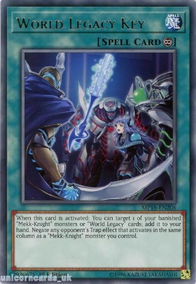 Picture of MP18-EN206 World Legacy Key Rare 1st Edition Mint YuGiOh Card