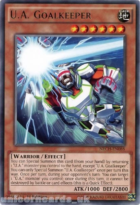 Picture of NECH-EN088 U.A. Goalkeeper Rare 1st Edition Mint YuGiOh Card