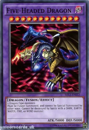 Picture of MIL1-EN012 Five-Headed Dragon 1st edition Mint YuGiOh Card