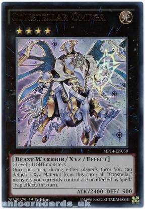 Picture of MP14-EN059 Constellar Omega Ultra Rare 1st Edition Mint YuGiOh Card