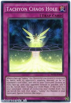 Picture of MP15-EN040 Tachyon Chaos Hole Super Rare 1st edition Mint YuGiOh Card