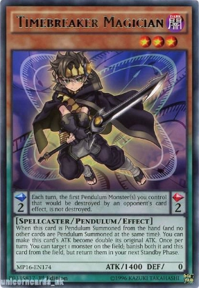 Picture of MP16-EN174 Timebreaker Magician Rare 1st Edition Mint YuGiOh Card