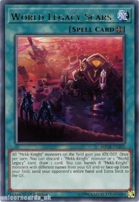 Picture of MP18-EN205 World Legacy Scars Rare 1st Edition Mint YuGiOh Card