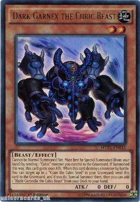Picture of MVP1-EN033 Dark Garnex the Cubic Beast Ultra Rare 1st edition Mint YuGiOh Card