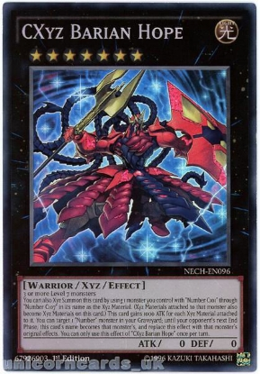 Picture of NECH-EN096 CXyz Barian Hope Super Rare 1st Edition Mint YuGiOh Card