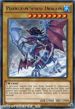 Picture of MACR-EN028 Phantasm Spiral Dragon Rare UNL Edition Mint YuGiOh Card