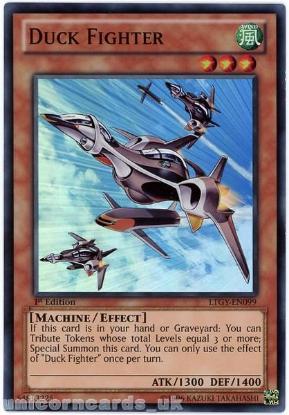 Picture of LTGY-EN099 Duck Fighter Super Rare 1st Edition Mint YuGiOh Card