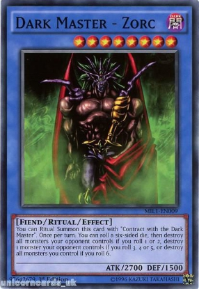 Picture of MIL1-EN009 Dark Master - Zorc 1st edition Mint YuGiOh Card