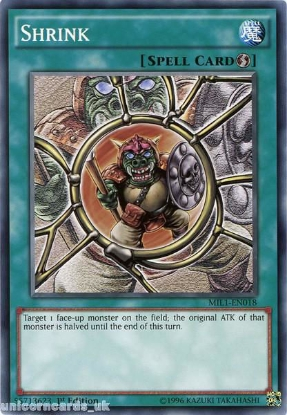 Picture of MIL1-EN018 Shrink 1st edition Mint YuGiOh Card