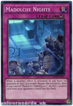 Picture of MP14-EN051 Madolche Nights Super Rare 1st Edition Mint YuGiOh Card