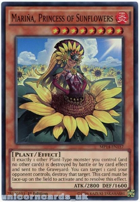 Picture of MP14-EN157 Marina, Princess of Sunflowers Super Rare 1st Edition YuGiOh Card