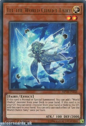 Picture of MP18-EN048 Lee the World Chalice Fairy Ultra Rare 1st Edition Mint YuGiOh Card