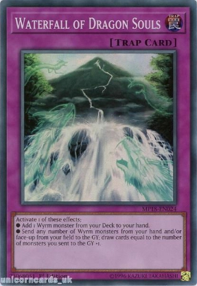 Picture of MP18-EN024 Waterfall of Dragon Souls Super Rare 1st Edition Mint YuGiOh Card