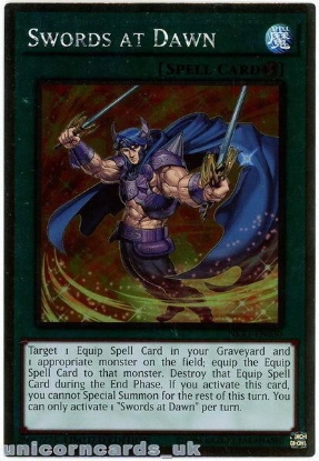 Picture of NKRT-EN030 Swords at Dawn Platinum Rare Limted Edition Mint YuGiOh Card