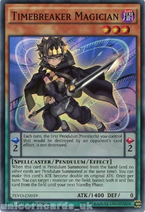 Picture of PEVO-EN019 Timebreaker Magician Super Rare 1st Edition Mint YuGiOh Card