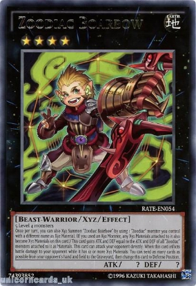 Picture of RATE-EN054 Zoodiac Boarbow Rare UNL Edition Mint YuGiOh Card