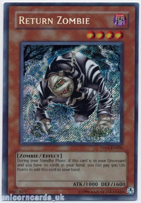Picture of PP01-EN006 Return Zombie Secret Rare Mint YuGiOh Card