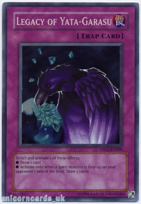 Picture of PP01-EN009 Legacy of Yata-Garasu Super Rare Mint YuGiOh Card