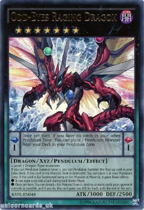 Picture of RATE-EN048 Odd-Eyes Raging Dragon Ultra Rare UNL Edition Mint YuGiOh Card