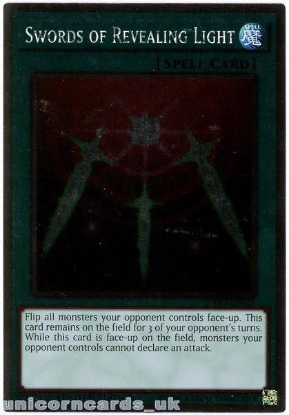 Picture of NKRT-EN025 Swords of Revealing Ligh Platinum Rare Ltd Edition Mint YuGiOh Card
