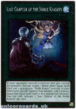 Picture of NKRT-EN017 Last Chapter of the Noble Knights Platinum Rare Mint YuGiOh Card