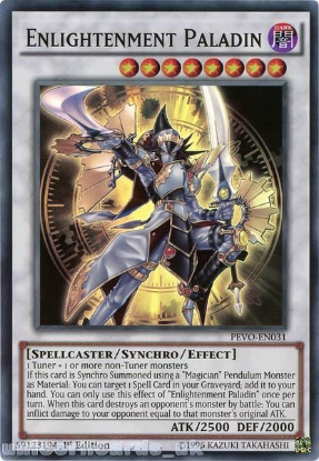 Picture of PEVO-EN031 Enlightenment Paladin Super Rare 1st Edition Mint YuGiOh Card
