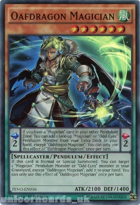 Picture of PEVO-EN016 Oafdragon Magician Super Rare 1st Edition Mint YuGiOh Card