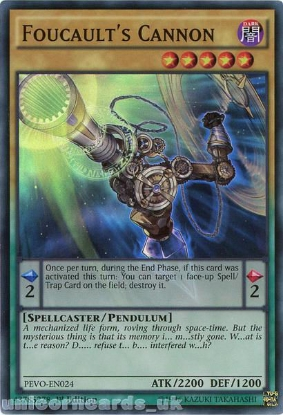 Picture of PEVO-EN024 Foucault's Cannon Super Rare 1st Edition Mint YuGiOh Card