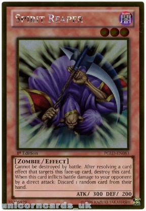 Picture of PGLD-EN083 Spirit Reaper Gold Rare 1st Edition Mint YuGiOh Card