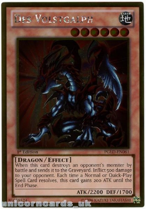 Picture of PGLD-EN061 Des Volstgalph Gold Rare 1st Edition Mint YuGiOh Card
