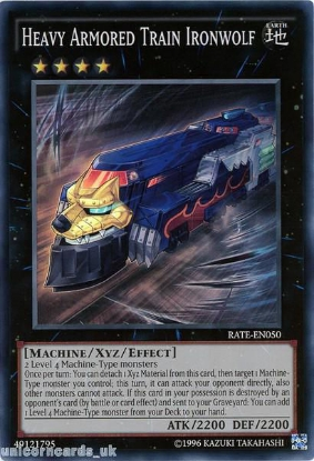 Picture of RATE-EN050 Heavy Armored Train Ironwolf Super Rare UNL Edition Mint YuGiOh Card