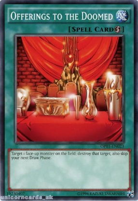 Picture of OP01-EN023 Offerings to the Doomed Mint YuGiOh Card