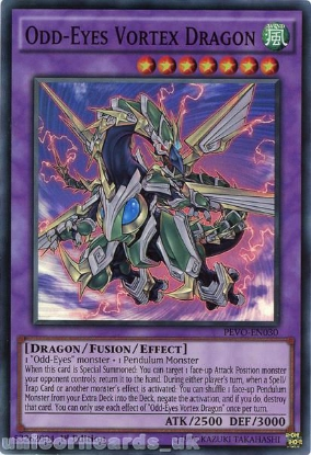 Picture of PEVO-EN030 Odd-Eyes Vortex Dragon Super Rare 1st Edition Mint YuGiOh Card