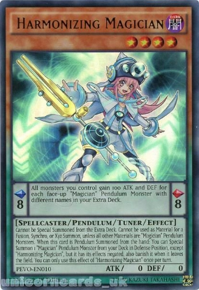 Picture of PEVO-EN010 Harmonizing Magician Ultra Rare 1st Edition Mint YuGiOh Card