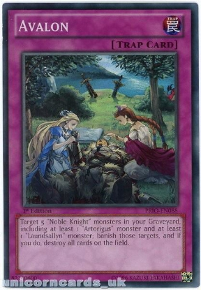 Picture of PRIO-EN088 Avalon Super Rare 1st Edition Mint YuGiOh Card