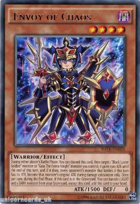 Picture of RATE-EN025 Envoy of Chaos Rare UNL Edition Mint YuGiOh Card