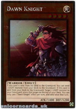 Picture of NKRT-EN016 Dawn Knight Platinum Rare Limted Edition Mint YuGiOh Card