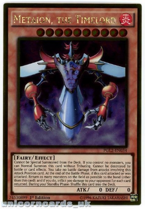 Picture of PGL2-EN034 Metaion, the Timelord Gold Rare 1st Edition Mint YuGiOh Card