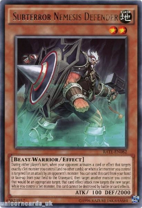 Picture of RATE-EN082 Subterror Nemesis Defender Rare UNL Edition Mint YuGiOh Card