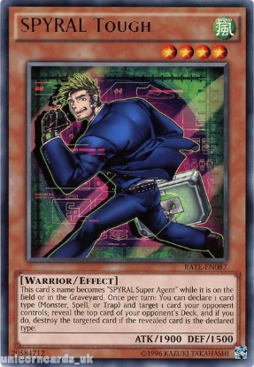 Picture of RATE-EN087 SPYRAL Tough Rare UNL Edition Mint YuGiOh Card