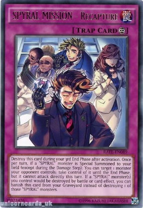 Picture of RATE-EN089 SPYRAL MISSION - Recapture Rare UNL Edition Mint YuGiOh Card