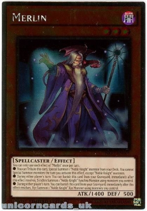 Picture of NKRT-EN001 Merlin Platinum Rare Limted Edition Mint YuGiOh Card