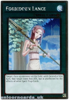 Picture of NKRT-EN042 Forbidden Lance Platinum Rare Limted Edition Mint YuGiOh Card