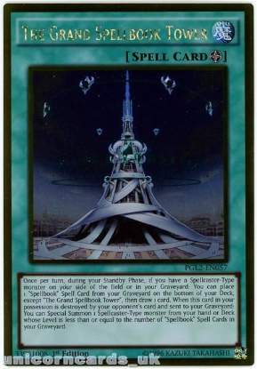 Picture of PGL2-EN057 The Grand Spellbook Tower Gold Rare 1st Edition Mint YuGiOh Card