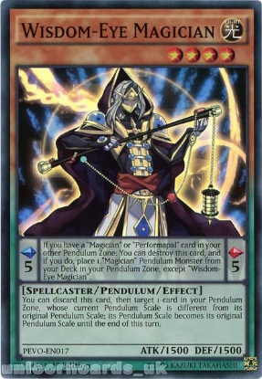 Picture of PEVO-EN017 Wisdom-Eye Magician Super Rare 1st Edition Mint YuGiOh Card