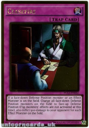 Picture of PGL2-EN062 Ceasefire Gold Rare 1st Edition Mint YuGiOh Card