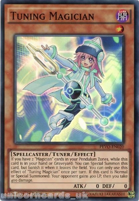 Picture of PEVO-EN020 Tuning Magician Super Rare 1st Edition Mint YuGiOh Card