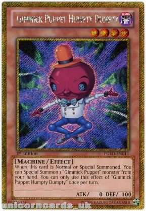 Picture of PGLD-EN011 Gimmick Puppet Humpty Dumpty Gold Secret Rare 1st Edition YuGiOh Card
