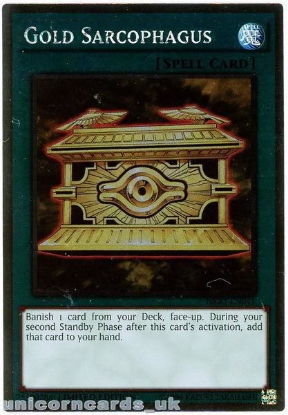 Picture of NKRT-EN041 Gold Sarcophagus Platinum Rare Limted Edition Mint YuGiOh Card