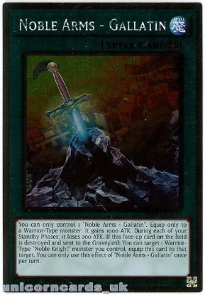 Picture of NKRT-EN019 Noble Arms - Gallatin Platinum Rare Limted Edition Mint YuGiOh Card